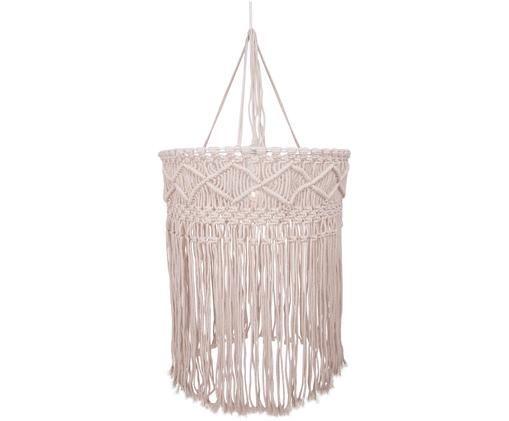 Design-Pendelleuchte Havanna aus Baumwolle, Lampenschirm: Baumwolle, Weiß, Beige, Ø 40 x H 50 cm