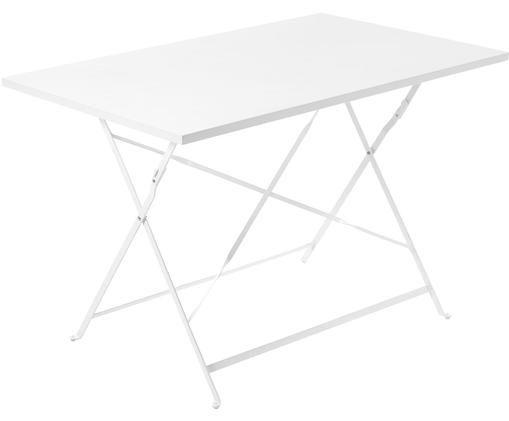 Stół składany Alrick, Metal malowany proszkowo, Biały, S 110 x G 70 cm