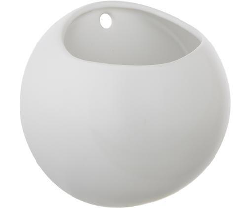 Wand-Übertopf Globe, Keramik, Weiß, Ø 15 x H 15 cm