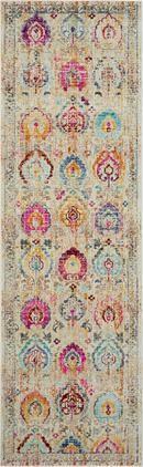 Niederflor-Läufer Kashan Vintage mit bunten Ornamenten