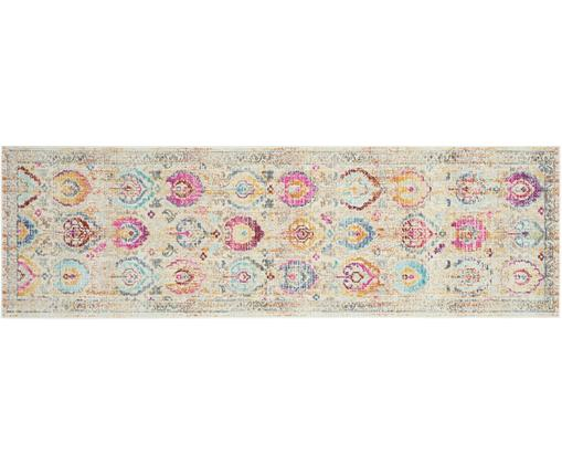 Chodnik Kashan Vintage, Polipropylen, Beżowy, wielobarwny, S 60 x D 180 cm