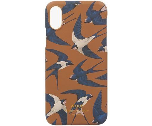 Hülle Swallow für iPhone X, Gelb, Blau, Beige