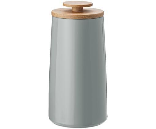 Boîte de rangement Emma, Boîte:gris Couvercle: bois de hêtre