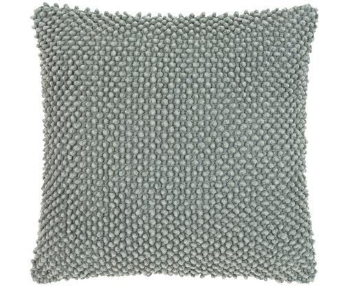 Housse de coussin à texture douce Indi, Vert sauge