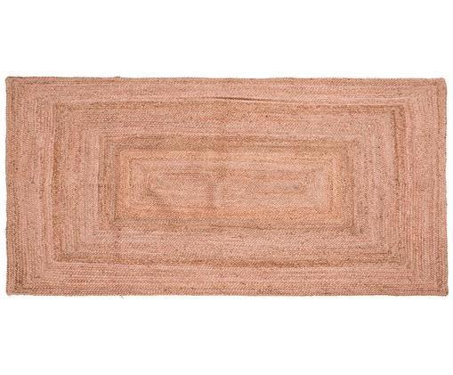 Jute-Teppich Pampas in Hellrosa, Jute, Hellrosa, B 60 x L 120 cm (Größe XS)