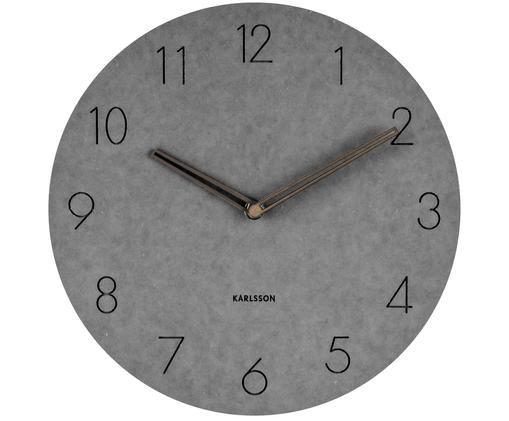Horloge murale Dura, Gris, brun