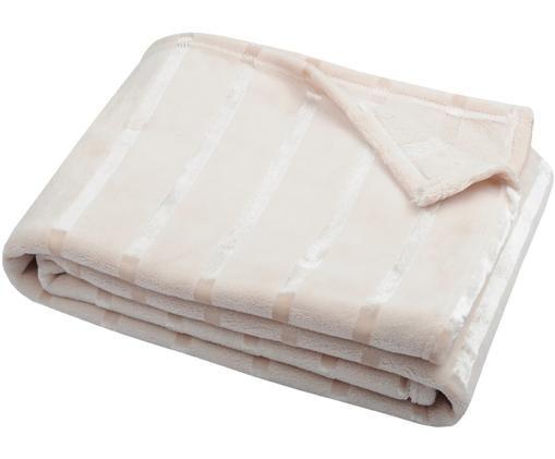 Miękki pled z polaru Clyde, Poliester, Beżowy, złamana biel, S 130 x D 160 cm