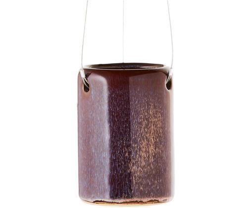 Donica wisząca Melange, Purpurowy, lila,  kremowy, metal