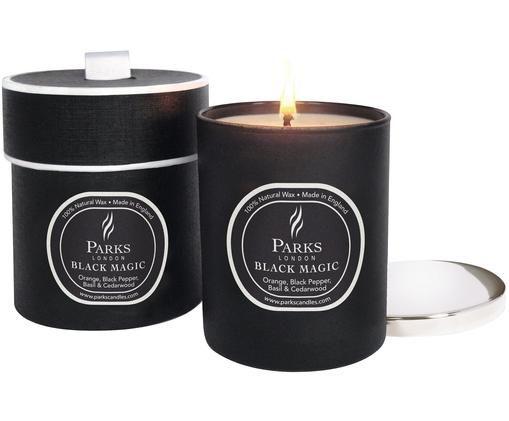 Bougie parfumée Black Magic (orange, poivre noir, basilic & bois de cèdre), Noir