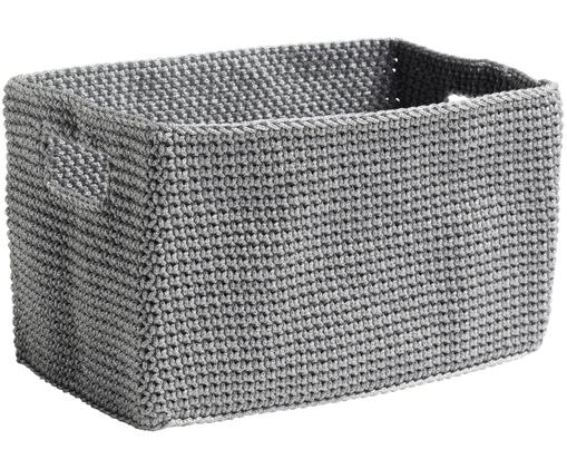 Aufbewahrungskorb Tink, Polyester, Grau, 22 x 14 cm