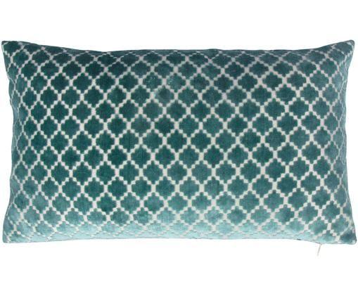 Kissenhülle Versus mit Hoch-Tief-Muster, 60% Polyester, 40% Viskose, Petrol, 30 x 50 cm