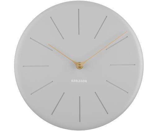Orologio da parete Sole Station, Materiale sintetico, Grigio, dorato, Ø 25 cm