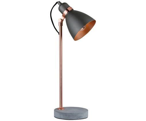 Lampe de bureau Orm, Couleur cuivrée, gris
