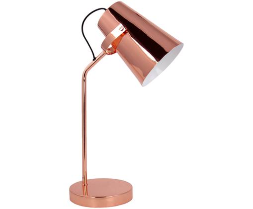 Lampe à poser Ilda, Abat-jour: couleur cuivrée. Pied de lampe: couleur cuivrée. Câble: noir