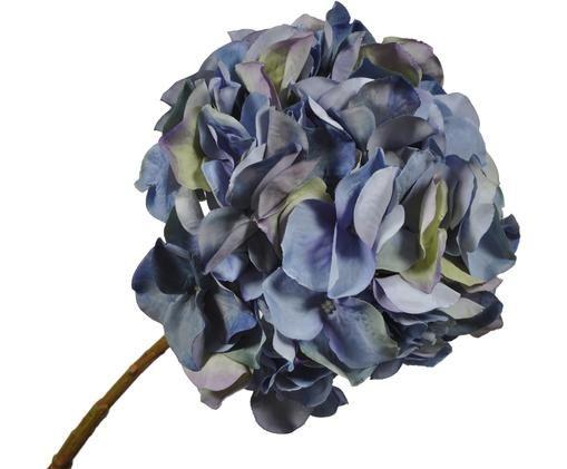 Kunstbloem Hortensia Takita, Bloem: kunststof, Steel: metaal, Blauwtinten, L 53 cm