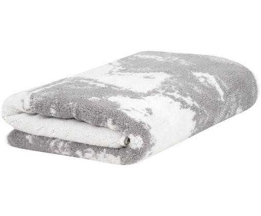 Asciugamano Malin con motivo in marmo, 100% cotone, qualità media 550g/m², Grigio, bianco crema, Asciugamano per ospiti