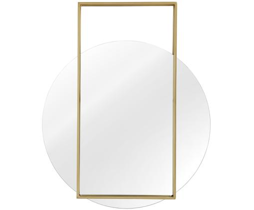 Specchio da parete Ashley, Cornice: metallo nichelato, Superficie dello specchio: lastra di vetro, Retro: pannello di fibra a media, Dorato opaco, Larg. 81 x Alt. 100 cm