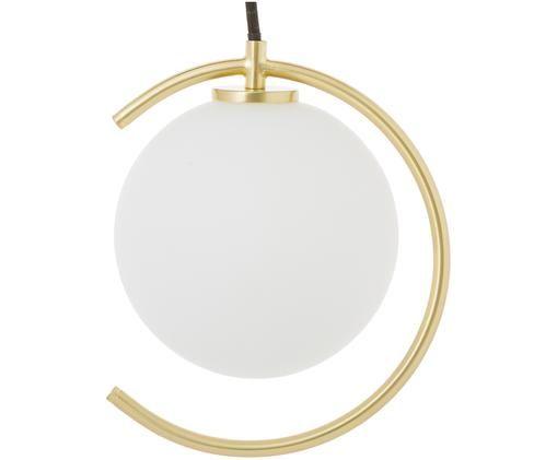 Lampada a sospensione Rook, Bianco, ottone