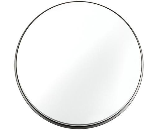 Wandspiegel Metal, Rahmen: Metall, lackiert mit gewo, Rahmen: Schwarz<br>Spiegelglas, Ø 43 cm