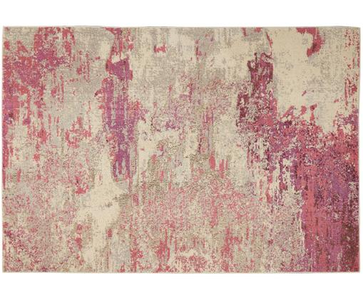 Designteppich Celestial in Rosa-Beige, Polypropylen, Beige, Rosa, B 275 x L 370 cm (Größe XL)