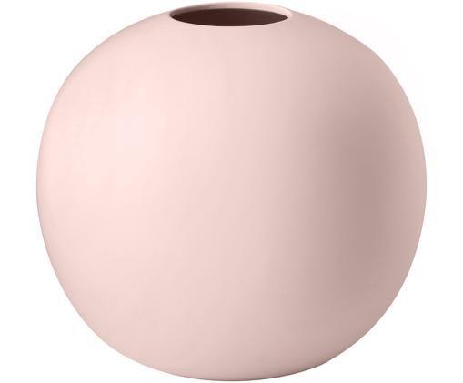Jarrón artesanal Ball, Cerámica, Rosa, Ø 20 x Al 20 cm