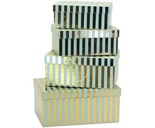 Ensemble de coffrets cadeaux Migell, 4élém., Couleur dorée, turquoise