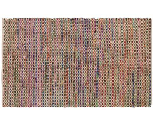 Tappeto colorato in mix juta Cando, 60% fibre sintetiche, 40% juta, Iuta, multicolore, Larg. 60 x Lung. 90 cm (taglia XXS)