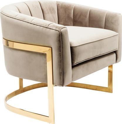 Samt-Loungesessel Pure Elegance in Greige