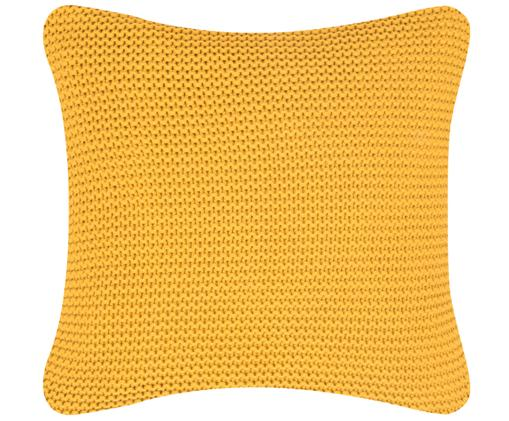 Federa arredo in cucitura a maglia Adalyn, Giallo ocra