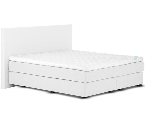 Łóżko kontynentalne premium Eliza, Jasny szary