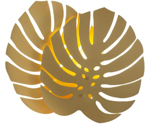 Wandleuchte Costa Rica mit Stecker, Leuchte: Messing, beschichtet, Messingfarben, 47 x 40 cm