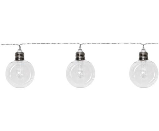 LED Solar-Lichterkette Chania, L 245 cm, Kunststoff, Transparent, Silberfarben, L 245 cm