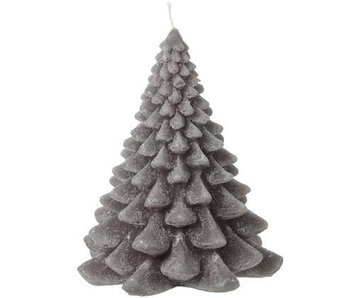 Deko-Kerze Christmas Tree, Paraffinwachs, Grau, Ø 12 x H 16 cm