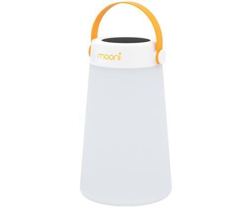 Lampe d'extérieur LED mobile avec enceinte Take Me, Blanc, orange