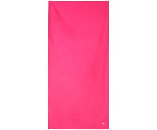 Szybkoschnący ręcznik plażowy z mikrofibry Classic, Mikrofibra (80% poliester, 20% poliamid), Różowy, S 90 x D 200 cm