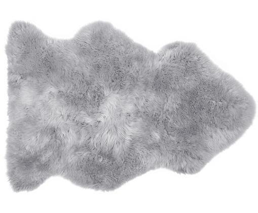 Pelliccia di pecora Oslo, liscia, Retro: 100% pelle, rivestito sen, Grigio chiaro, Larg. 60 x Lung. 90 cm