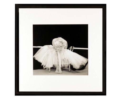 Stampa digitale incorniciata Ballerina, Immagine: stampa digitale, Cornice: materiale sintetico, Immagine: nero, bianco<br>Cornice: nero, L 40 x A 40 cm