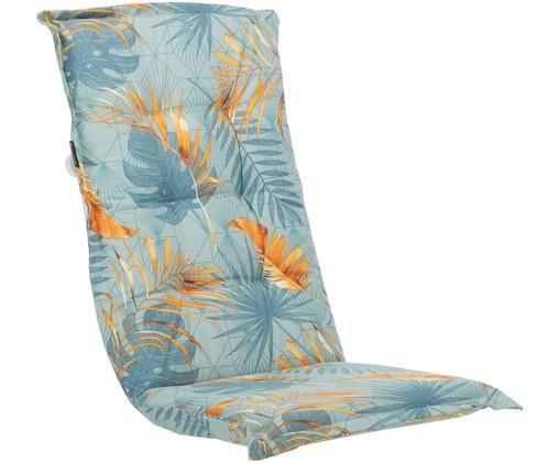 Nakładka na siedzisko z oparciem Dotan, 50% bawełna, 45% poliester, 5% inne włókna, Jasny niebieski, niebieski, pomarańczowy, S 50 x D 123 cm