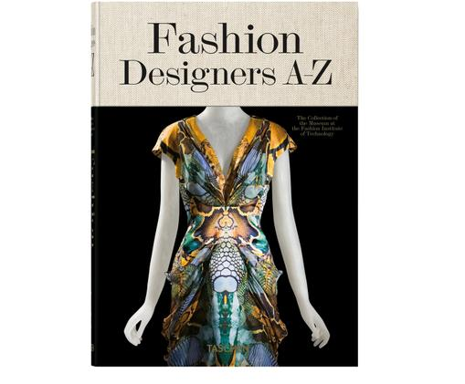 Bildband Fashion Designer A-Z, Schwarz, Creme, Mehrfarbig, 18 x 24 cm