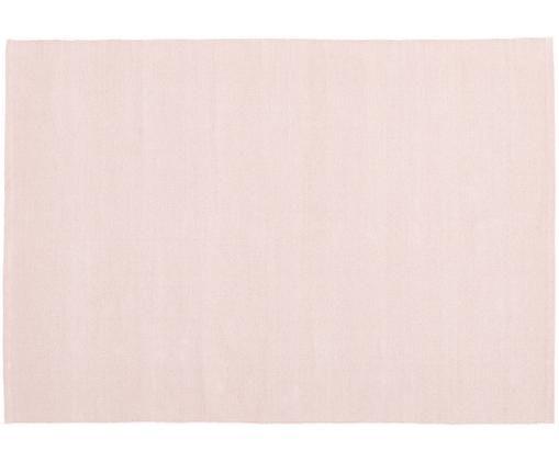 Einfarbiger Baumwollteppich Agneta, handgewebt, Baumwolle, Rosa, B 160 x L 230 cm (Größe M)