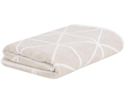 Asciugamano reversibile Elina, 100% cotone, qualità media 550g/m², Sabbia, bianco crema, Telo bagno