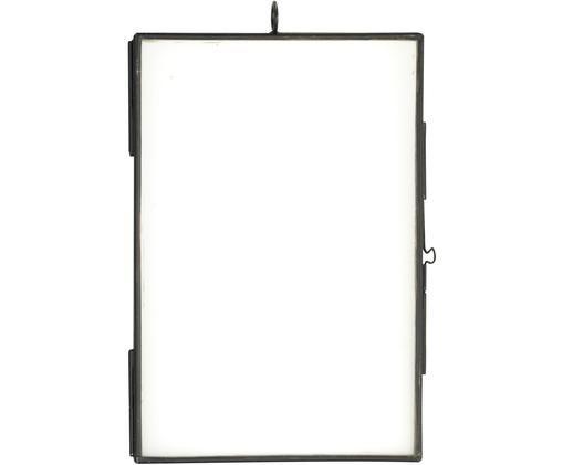 Bilderrahmen Key, Glas, Metall, beschichtet, Schwarz, 10 x 15