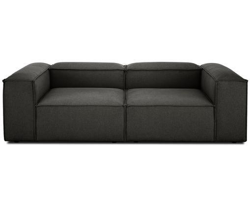 Modulares Sofa Lennon (3-Sitzer), Bezug: Polyester 35.000 Scheuert, Gestell: Massives Kiefernholz, Spe, Füße: Kunststoff, Anthrazit, B 238 x T 119 cm