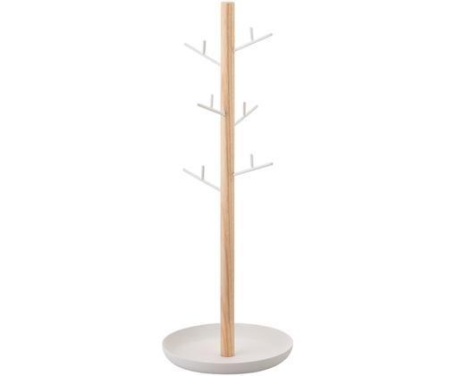 Portagioie Tosca, Asta: legno, Bianco, marrone, Larg. 13 x Alt. 36 cm