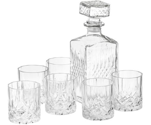 Whiskey-Set Cut, 7-tlg., Transparent