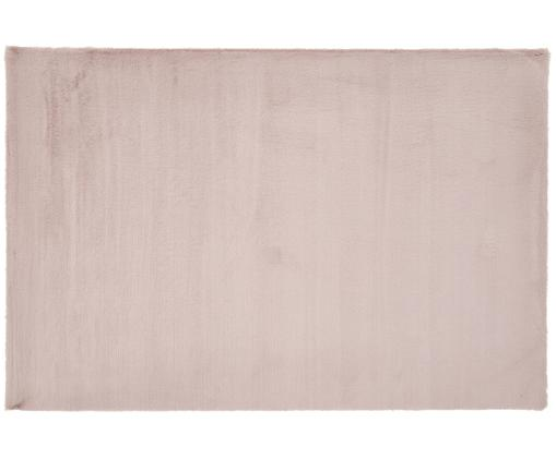 Vloerkleed van kunstvacht Rabea, Bovenzijde: 100% polyester, Onderzijde: 70% polyester, 30% katoen, Oudroze, 200 x 300 cm