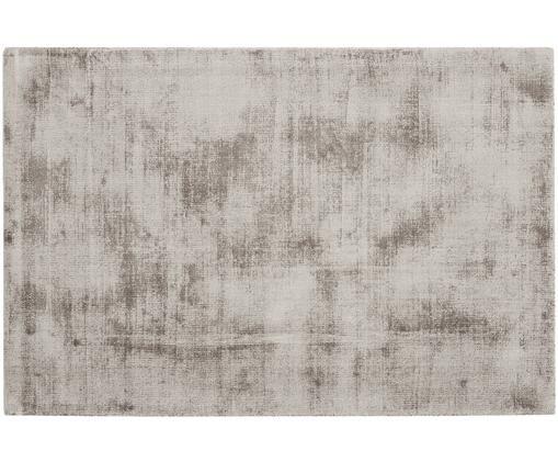 Handgewebter Viskoseteppich Jane, Flor: 100% Viskose, Taupe, B 120 x L 180 cm (Größe S)