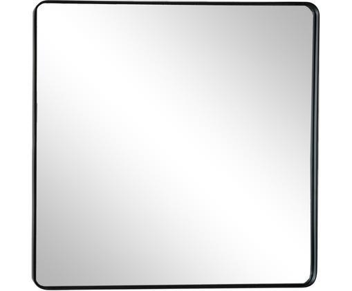 Lustro ścienne Lianna, Metal, szkło lustrzane, Czarny, S 50 x W 50 cm