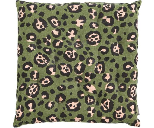 Cuscino sedia Panther, Cotone, Verde scuro, Larg. 40 x Lung. 40 cm