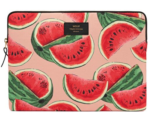 Laptophülle Watermelon für MacBook Pro 13 Zoll, Hülle: Kunstfaser-Canvas, Rosa, Rot, 33 x 23 cm